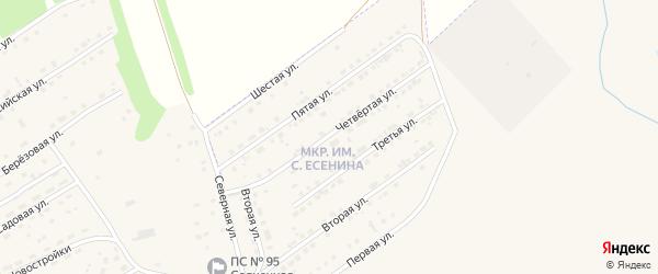 Четвертая улица на карте микрорайона им С.Есенина с номерами домов