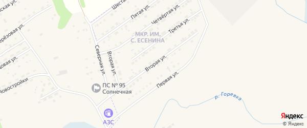 Вторая улица на карте микрорайона им С.Есенина с номерами домов