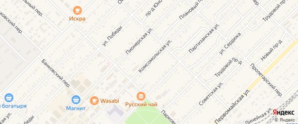 Комсомольская улица на карте Алейска с номерами домов