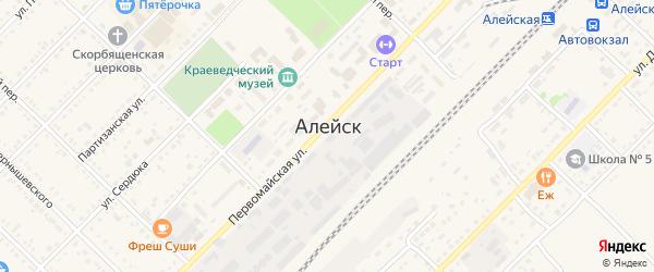 Целинный проезд на карте Алейска с номерами домов