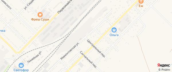 Мамонтовская улица на карте Алейска с номерами домов