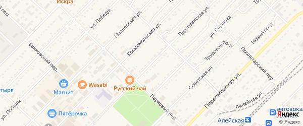Партизанская улица на карте Алейска с номерами домов