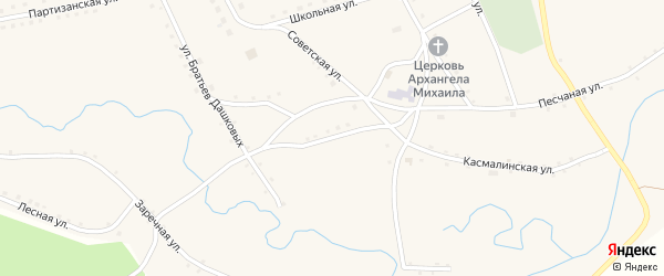 Улица Чкалова на карте села Рогозиха с номерами домов