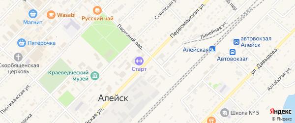 Первомайская улица на карте Алейска с номерами домов