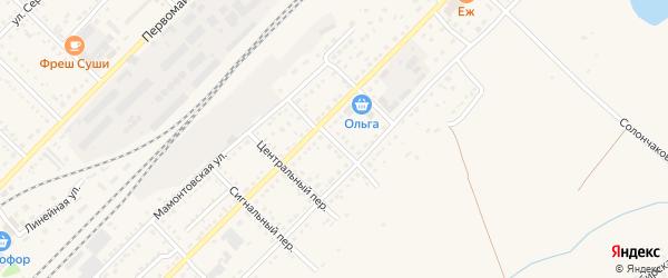 Интернациональный переулок на карте Алейска с номерами домов