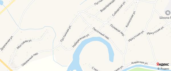 Набережная улица на карте Алейска с номерами домов