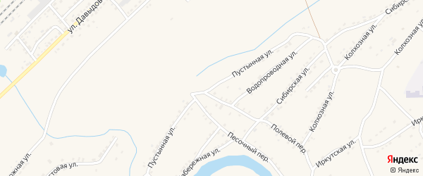 Пустынная улица на карте Алейска с номерами домов