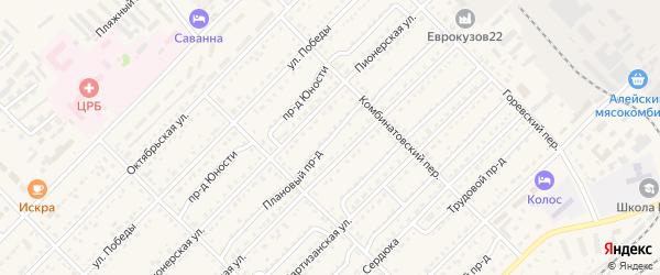 Плановый проезд на карте Алейска с номерами домов
