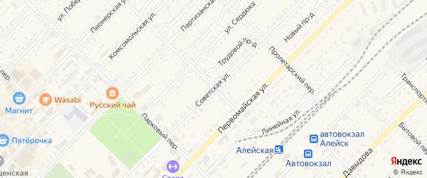 Советская улица на карте Алейска с номерами домов