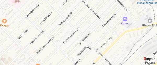 Пролетарский переулок на карте Алейска с номерами домов