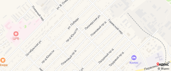 Комбинатовский переулок на карте Алейска с номерами домов
