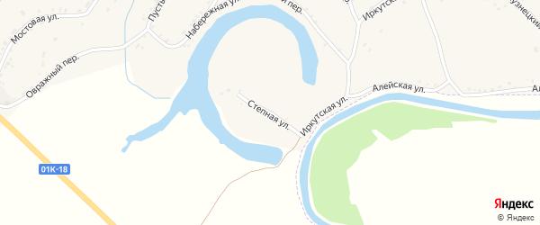Степная улица на карте Алейска с номерами домов