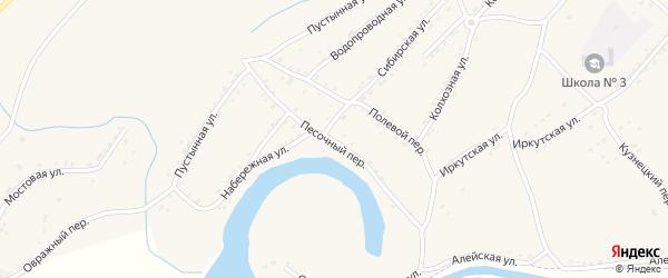 Песочный переулок на карте Алейска с номерами домов
