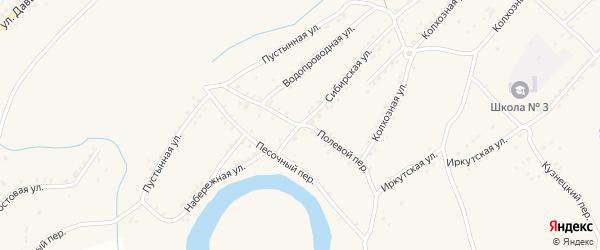 Полевой переулок на карте Алейска с номерами домов