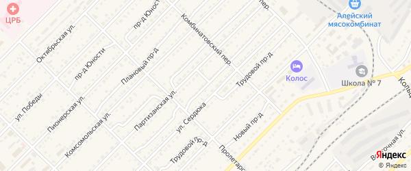Лазурный проезд на карте Алейска с номерами домов