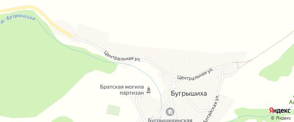 Центральная улица на карте села Бугрышихи с номерами домов
