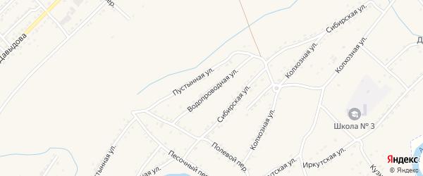 Водопроводная улица на карте Алейска с номерами домов