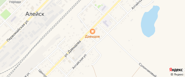 Почтовый переулок на карте Алейска с номерами домов