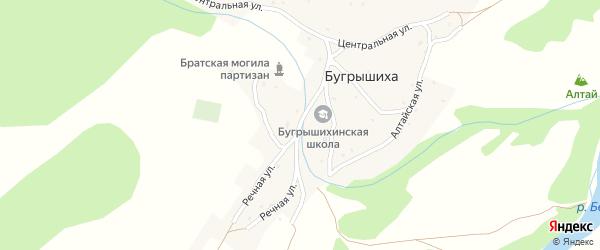 Горная улица на карте села Бугрышихи с номерами домов
