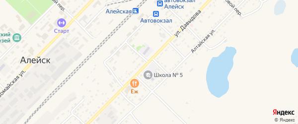 Красноармейский переулок на карте Алейска с номерами домов