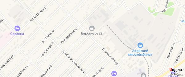 Горевский переулок на карте Алейска с номерами домов