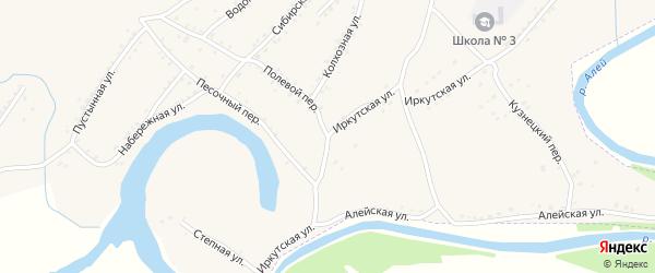 Иркутская улица на карте Алейска с номерами домов