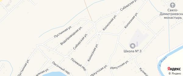 Магазинный проезд на карте Алейска с номерами домов