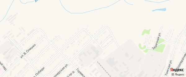 Безымянный переулок на карте Алейска с номерами домов