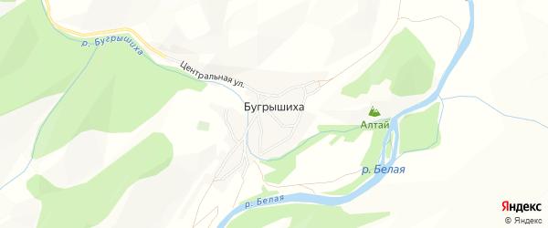 Карта села Бугрышихи в Алтайском крае с улицами и номерами домов
