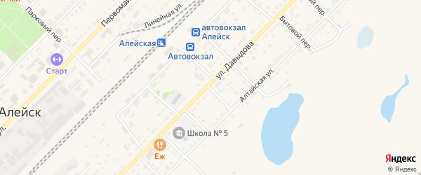 Краснояровский переулок на карте Алейска с номерами домов