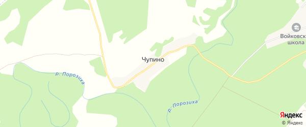 Карта поселка Чупино в Алтайском крае с улицами и номерами домов
