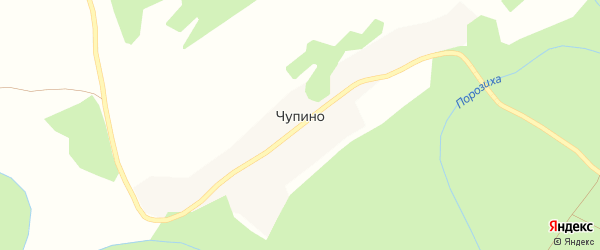Заречная улица на карте поселка Чупино с номерами домов
