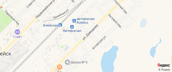Улица Давыдова на карте Алейска с номерами домов
