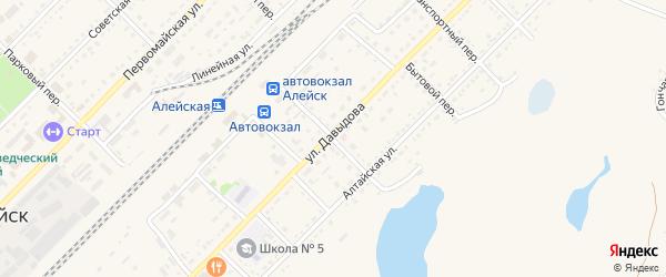 Ключевой переулок на карте Алейска с номерами домов