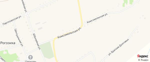 Комсомольская улица на карте села Рогозиха с номерами домов