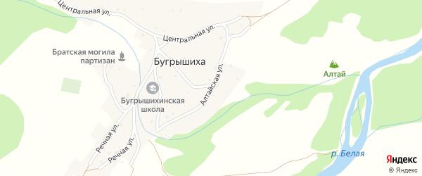 Алтайская улица на карте села Бугрышихи с номерами домов