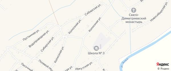 Колхозная улица на карте Алейска с номерами домов