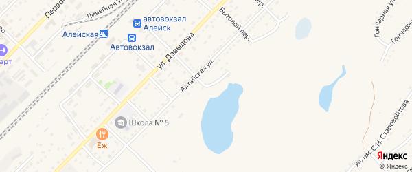 Бийская улица на карте Алейска с номерами домов