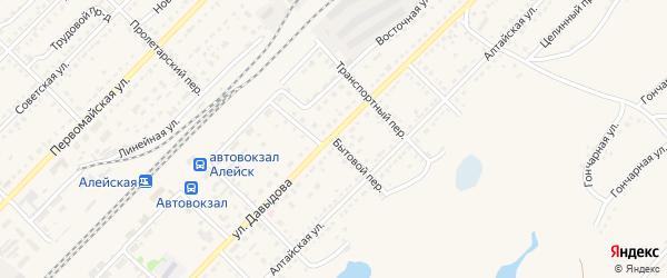 Бытовой переулок на карте Алейска с номерами домов
