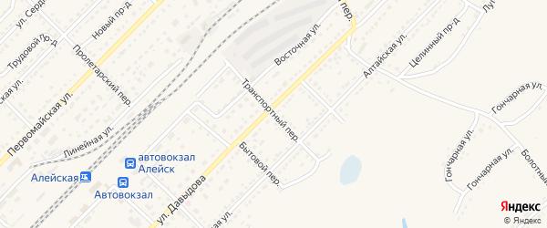 Транспортный переулок на карте Алейска с номерами домов