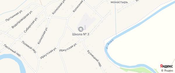 Школьная улица на карте Алейска с номерами домов