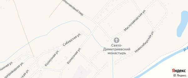 Улица Победы на карте ЗАТА Сибирского поселка с номерами домов