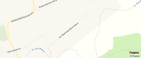 Улица Братьев Долговых на карте села Рогозиха с номерами домов