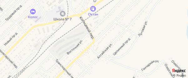 Кольцевой переулок на карте Алейска с номерами домов