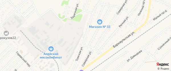 Томская улица на карте Алейска с номерами домов