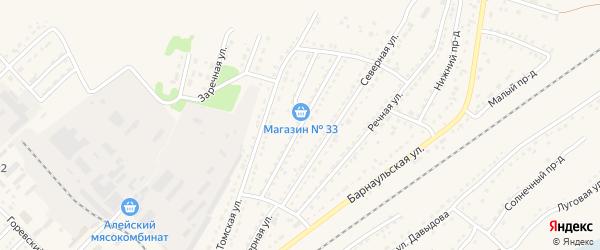 Кооперативная улица на карте Алейска с номерами домов