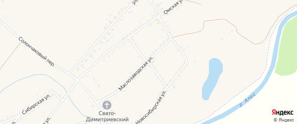 Кирпичный переулок на карте Алейска с номерами домов