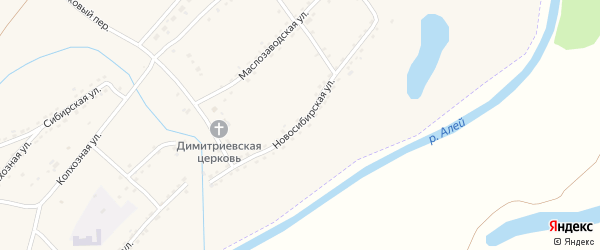 Новосибирская улица на карте Алейска с номерами домов