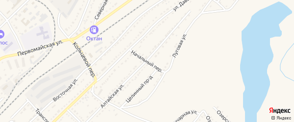 Начальный переулок на карте Алейска с номерами домов