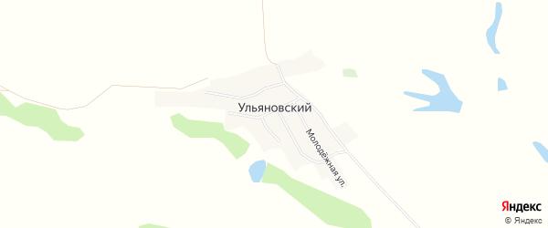 Карта Ульяновского поселка в Алтайском крае с улицами и номерами домов